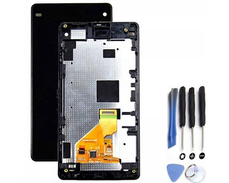 Pantalla Completa con Marco para Sony Xperia Z1 Compact D5503 Negro Negra ULTRA+ - 3