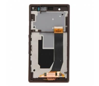 Pantalla Completa con Marco para Sony Xperia Z L36h Negro Negra