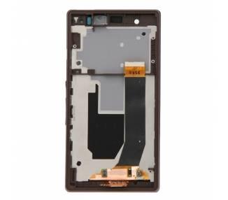 Pantalla Completa con Marco para Sony Xperia Z L36h Negro Negra ARREGLATELO - 2