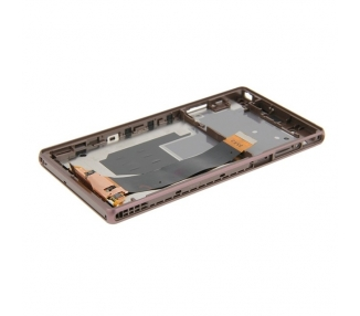 Display For Sony Xperia Z, Color Black, With Frame