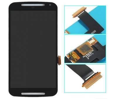 Volledig scherm voor Motorola Moto G2 XT1062 tot XT1069 Zwart Zwart FIX IT - 2