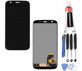 Display For Motorola Moto G, Color Black