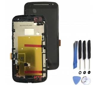 Vollbild mit Rahmen für Motorola Moto G2 Schwarz Schwarz