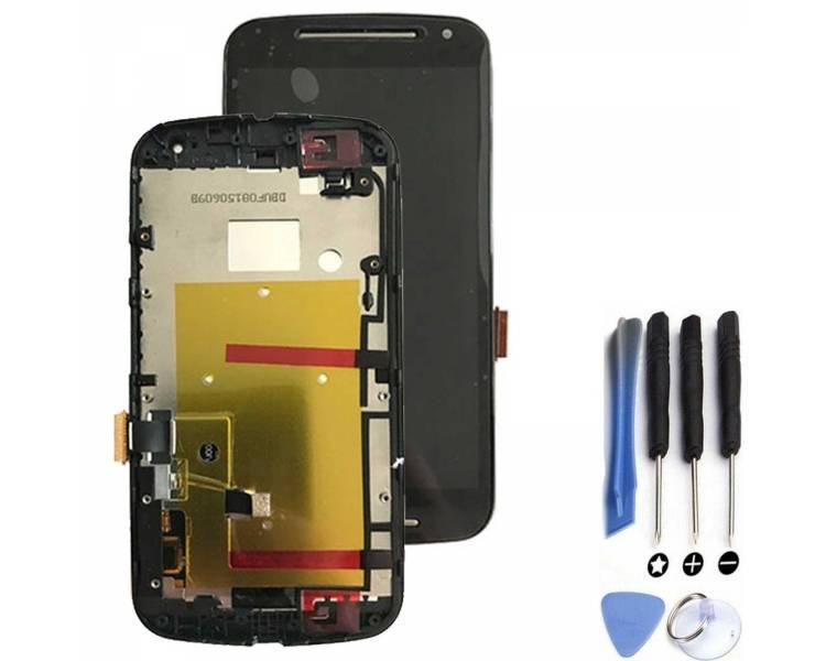 Volledig scherm met frame voor Motorola Moto G2 Zwart Zwart FIX IT - 1
