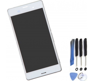 Display For Sony Xperia Z3 | Color White | With Frame |