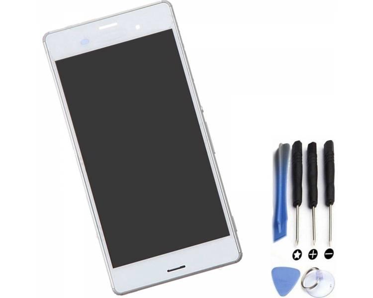 Vollbild mit Rahmen für Sony Xperia Z3 D6603 Weiß Weiß ARREGLATELO - 1