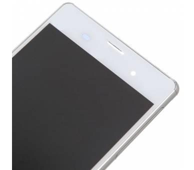 Vollbild mit Rahmen für Sony Xperia Z3 D6603 Weiß Weiß ARREGLATELO - 2