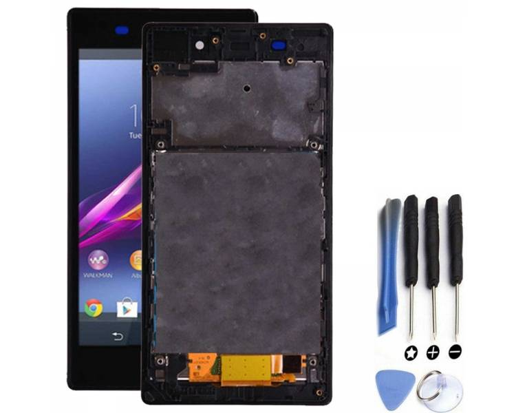 Display For Sony Xperia Z1, Color Black, With Frame ARREGLATELO - 1