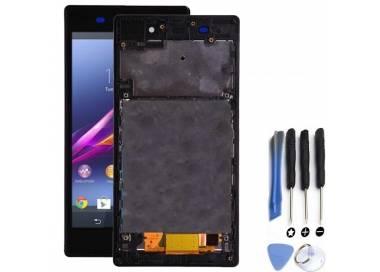 Pantalla Completa con Marco para Sony Xperia Z1 L39H Negro Negra ARREGLATELO - 1
