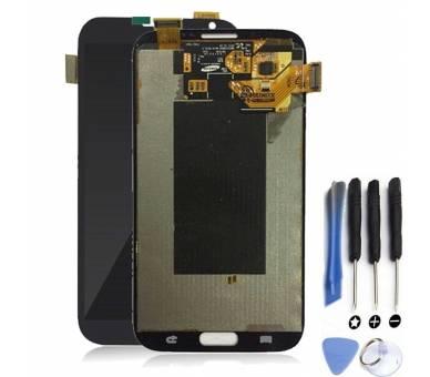 Oryginalny pełny ekran do Samsung Galaxy Note 2 N7100 Grey ARREGLATELO - 1