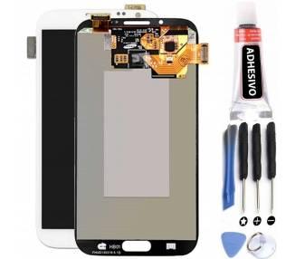 Origineel volledig scherm voor Samsung Galaxy Note 2 N7100 Wit Wit