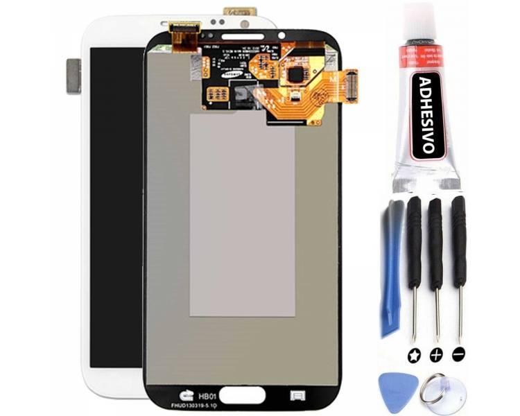 Display For Samsung Galaxy Note 2, Color White, OLED Samsung - 1