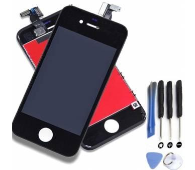 Volledig scherm voor iPhone 4 4G Zwart Zwart A +++ FIX IT - 1