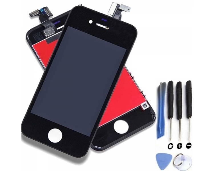 Pełny ekran dla iPhone 4 4G Czarny Czarny A +++ ARREGLATELO - 1