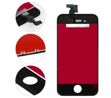 Display for iPhone 4, Color Black ARREGLATELO - 3