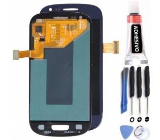 Volledig scherm voor Samsung Galaxy S3 i9300 Blue