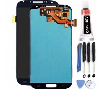 Oryginalny pełny ekran do Samsung Galaxy S4 i9505 i9506 i9500 i9515 niebieski