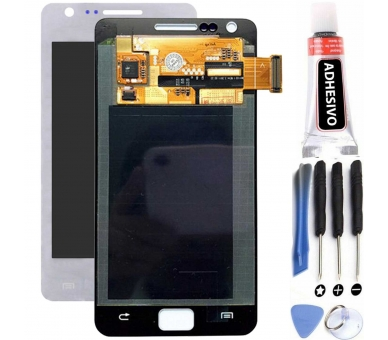 Volledig scherm voor Samsung Galaxy S2 i9100 Wit Wit FIX IT - 1