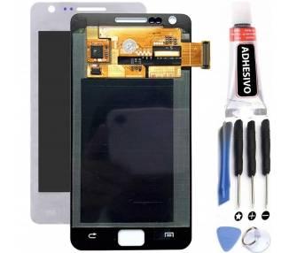 Schermo intero per Samsung Galaxy S2 i9100 Bianco Bianco