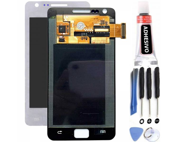 Vollbild für Samsung Galaxy S2 i9100 Weiß Weiß ARREGLATELO - 1