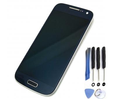 Pantalla Completa para Samsung Galaxy S4 Mini i9195 Azul