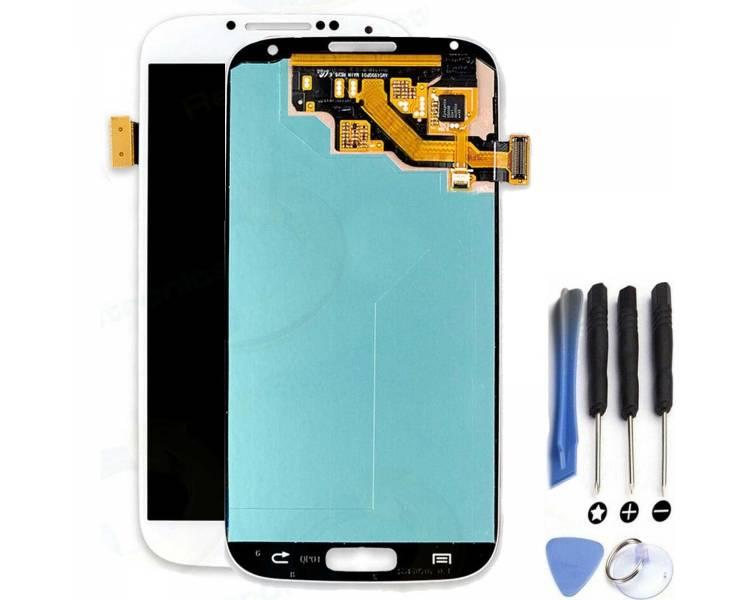 Pełny ekran dla Samsung Galaxy S4 i9500 i9505 Biały Biały ARREGLATELO - 1
