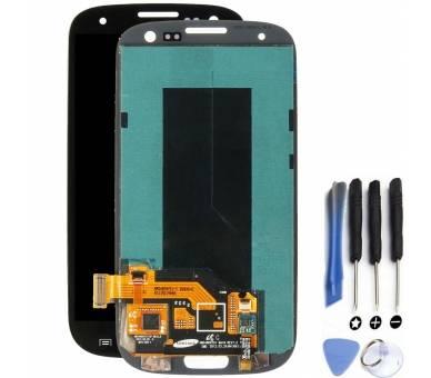 Volledig scherm voor Samsung Galaxy S3 i9300 Zwart Zwart FIX IT - 1