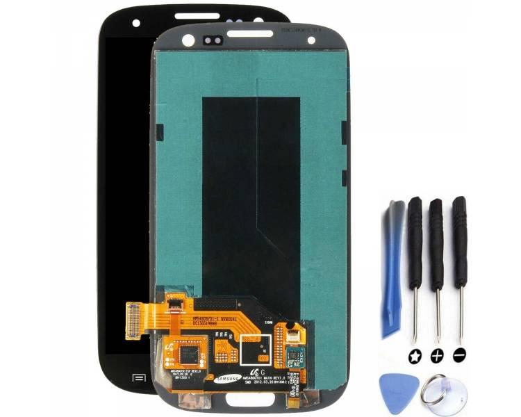 Pełny ekran dla Samsung Galaxy S3 i9300 Czarny Czarny ARREGLATELO - 1