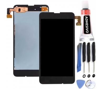 Pełny ekran dla Nokia Lumia 630 635 Czarny Czarny ARREGLATELO - 1