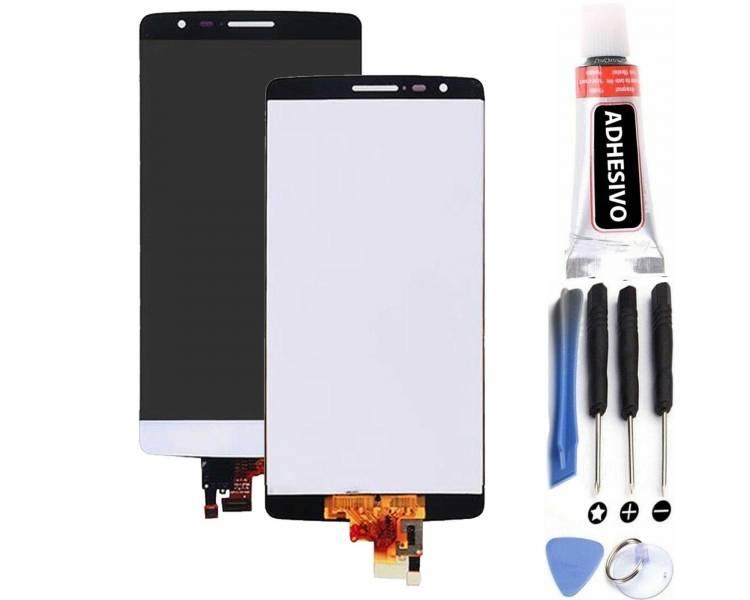 Vollbild für LG G3 S G3S Mini D722 D724 D728 LS885 Weiß Weiß ARREGLATELO - 1