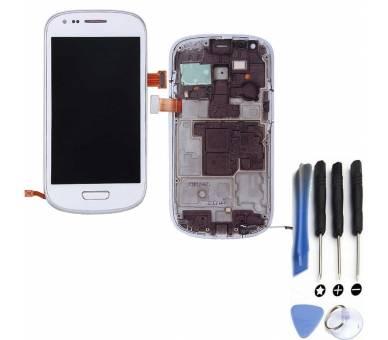 Volledig scherm met frame voor Samsung GALAXY S3 MINI i8190 Wit Wit FIX IT - 1