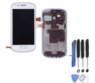 Pełny ekran z ramką do telefonu Samsung GALAXY S3 MINI i8190 Biały Biały