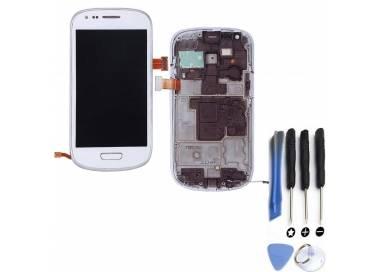 Pantalla Completa con Marco para Samsung GALAXY S3 MINI i8190 Blanco Blanca ARREGLATELO - 1