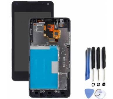 Volledig scherm met frame voor LG Optimus G E975 LS970 E973 Zwart Zwart FIX IT - 1