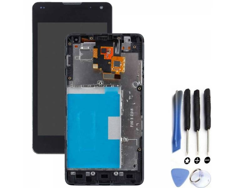 Vollbild mit Rahmen für LG Optimus G E975 LS970 E973 Schwarz Schwarz ARREGLATELO - 1