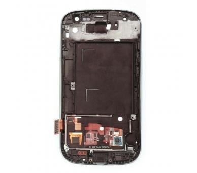 Schermo intero per Samsung Galaxy S3 i9300 con cornice bianca bianca ARREGLATELO - 2