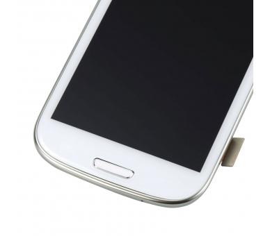 Pantalla Completa para Samsung Galaxy S3 i9300 con Marco Blanco Blanca