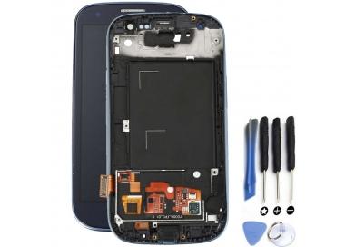 Pantalla Completa con Marco para Samsung Galaxy S3 i9300 Negro Negra Azul ARREGLATELO - 1