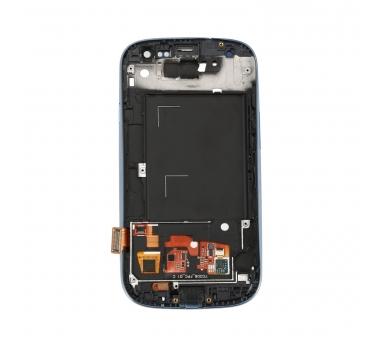 Vollbild mit Rahmen für Samsung Galaxy S3 i9300 Schwarz Schwarz Blau ARREGLATELO - 2