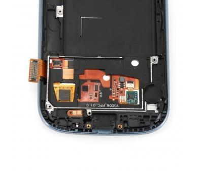 Schermo intero con cornice per Samsung Galaxy S3 i9300 Nero Nero Blu ARREGLATELO - 3