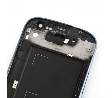 Volledig scherm met frame voor Samsung Galaxy S3 i9300 Zwart Zwart Blauw FIX IT - 4