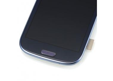 Pantalla Completa con Marco para Samsung Galaxy S3 i9300 Negro Negra Azul ARREGLATELO - 5