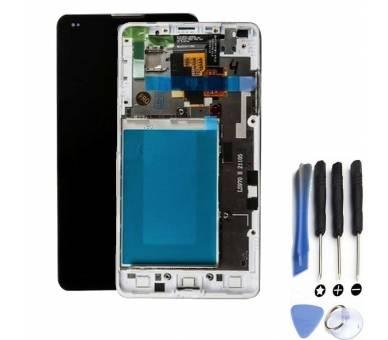 Pełny ekran z ramką do LG Optimus G E975 White White ARREGLATELO - 1
