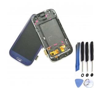Pantalla Completa con Marco para Samsung Galaxy S3 i9300 Azul ARREGLATELO - 1