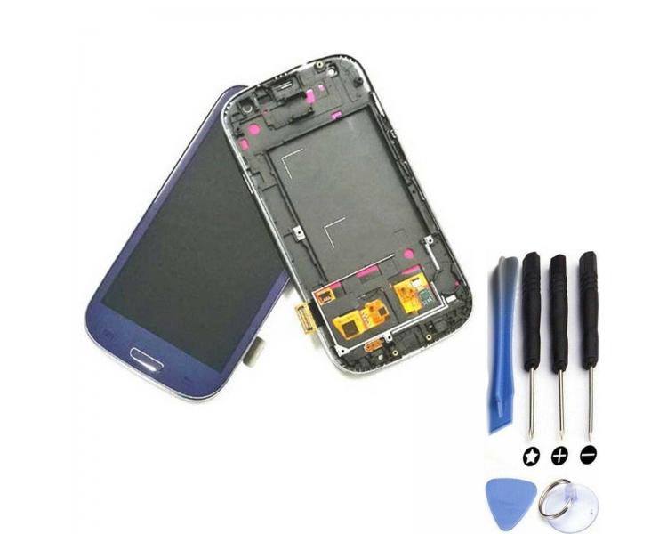 Volledig scherm met frame voor Samsung Galaxy S3 i9300 Blue FIX IT - 1