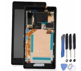 Pantalla Completa con Marco para Sony Xperia M2 D2302 D2303 D2305 D2306 Negro ARREGLATELO - 1