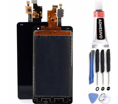 Vollbild für LG Optimus G E975 Schwarz Schwarz ARREGLATELO - 1
