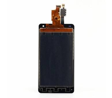Vollbild für LG Optimus G E975 Schwarz Schwarz ARREGLATELO - 2