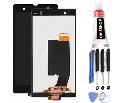 Pełny ekran dla Sony Xperia Z C6603 C6602 L36h Czarny Czarny ARREGLATELO - 1