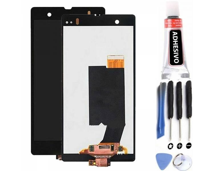 Pantalla Completa para Sony Xperia Z C6603 C6602 L36h Negro Negra